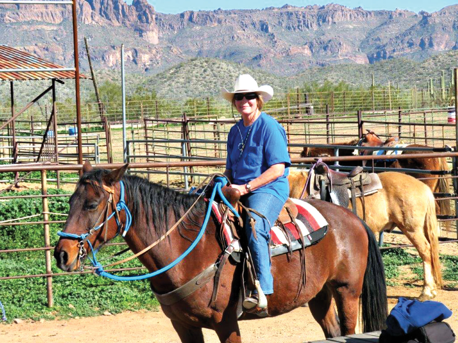 New resident Jennifer Betts got back on a horse after 47 years and loved the ride.