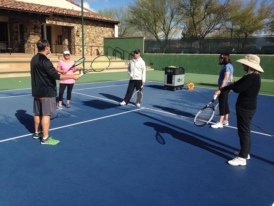 Tennis skill development clinic
