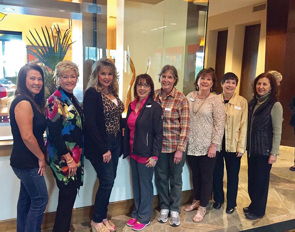 February SBRWC new Members, left to right: Anna Ung, Linda Grimes, Terry Pendy, Terri Fraiser, Jennifer Betts, Donna Winningham, Jodee Weiland and Elise Carter