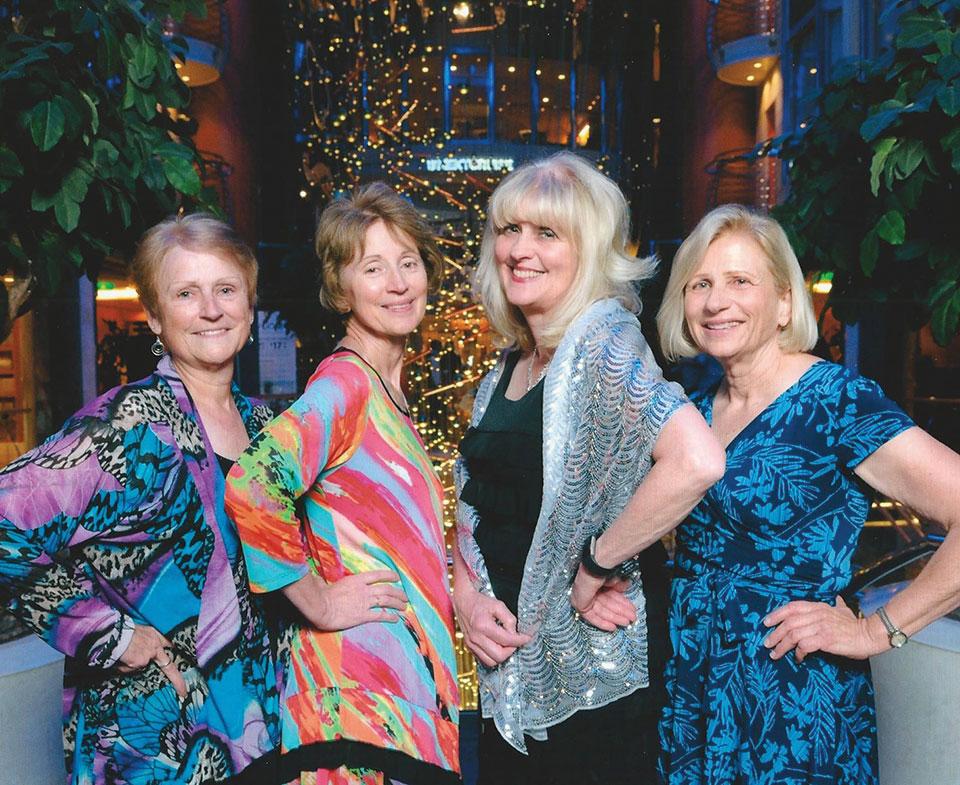 Left to right: Linda Hart, Dianne Johns, Cheryl Ludeman and Pat McCallum