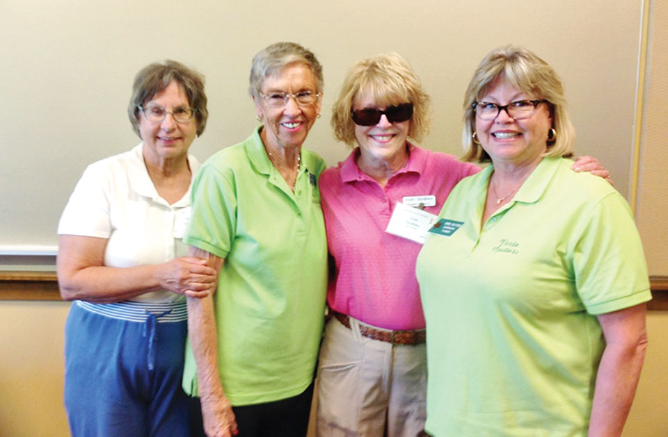 Second place team, 161: Debbie Schreiber, Jan Kasper, Vicki Godbey and Barbara Turner; photo by Deb Lawson