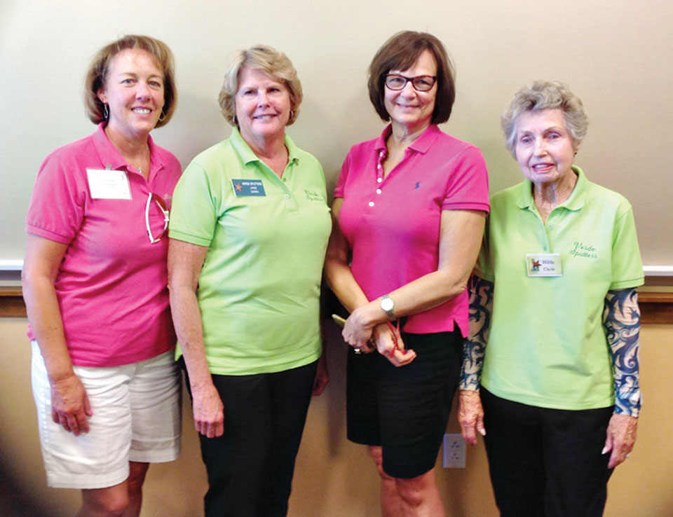 Third place team, 162: Debbie Shelton, Jane Gann, Kris Oldson and Hilda Clyde; photo by Deb Lawson