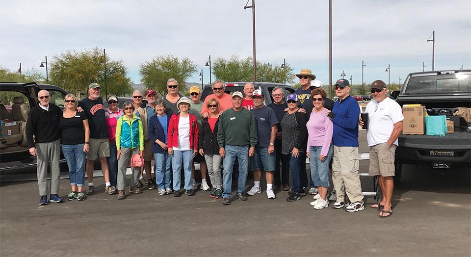 Volunteers for the SBR spring food drive