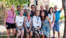 Front row: Sally Grasso, Linda Gorman, Debbie McCauley, Angela Jerman, Anna Ung, Corine Sturdivant; back row: Rudy Dominguez, Sonie Lee, Tim McCauley, Bruce Deverman, Norb Weisbeck, Marv Richter and Mick Borm