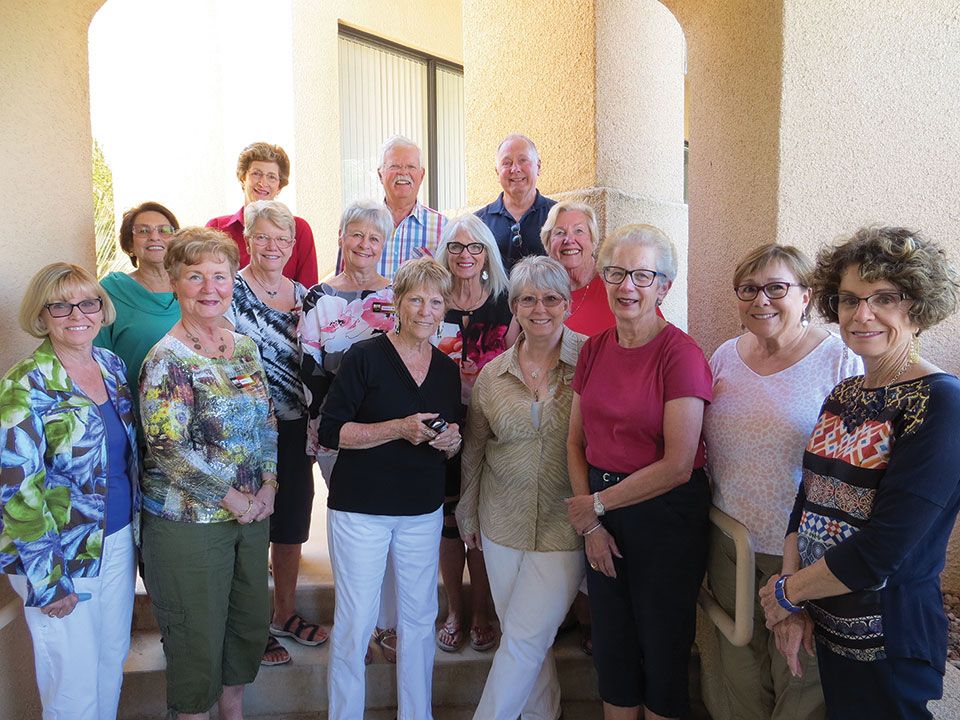 Left to right, back row: Elise Grimes, Steve Groth, Larry Richter; middle row: Vivian Errico, Marcia Van Ommeran, Sandy Miller, Melanie Stout, Karen Green; front row: Joan Roberts, Ann Coziahr, Betsy Lowry, Anne Everett, Cheryl Smith, Trish Parker, Nancy McCluskey-Moore