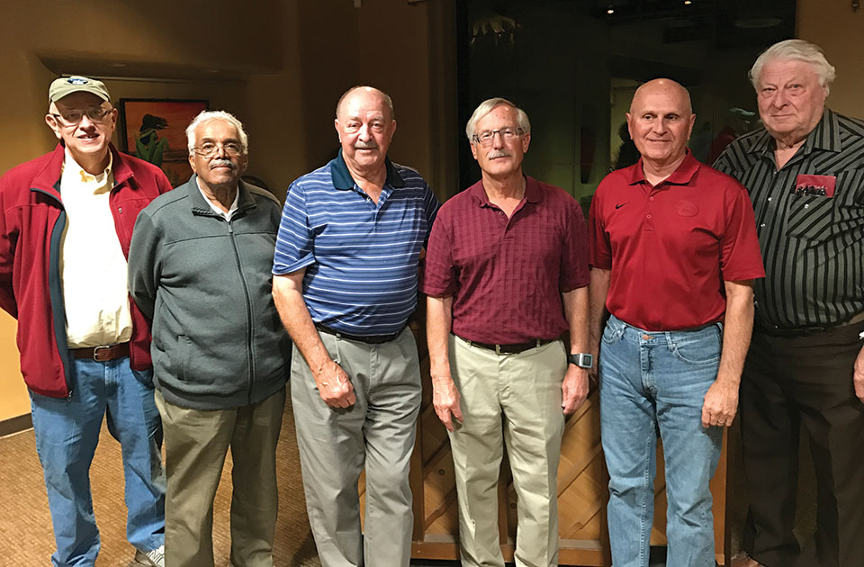 Left to right: Don Cain, Dan Williams, Sam Sollenberger, Richard Spitzer, Sam Miller and Ken Lund