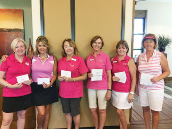 Left to right: Monica Gustafson, Terry Pendy, Alyce Grover, Linda Thomson, Janice Neal and Debbie Shelton