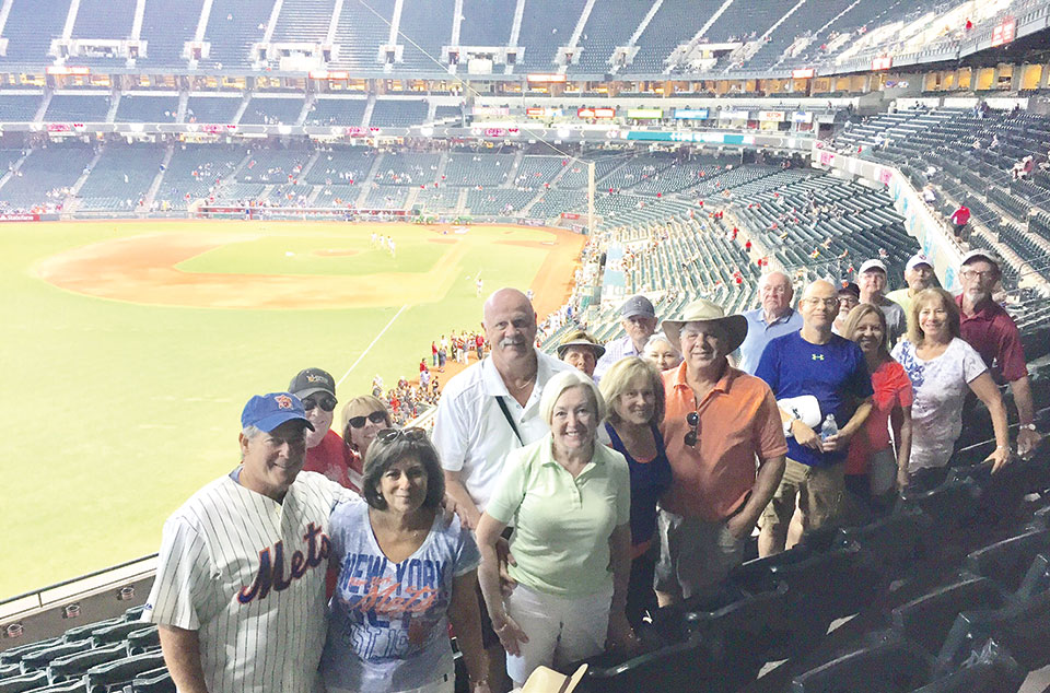 The SaddleBrooke Ranch baseball fans at Chase Field in Phoenix