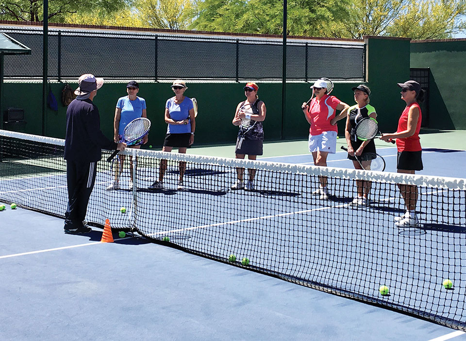 The tennis clinic was held in May.