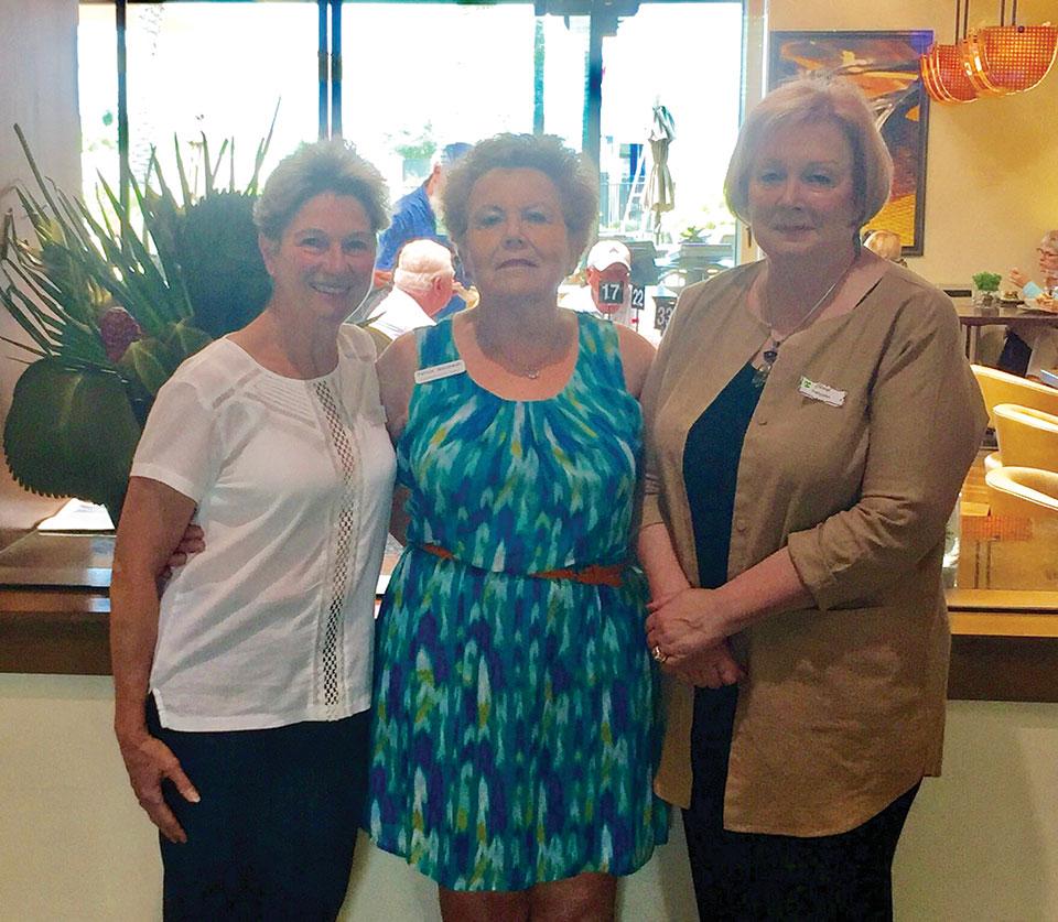 May SBRWC new members, left to right: Terrie Pompa, Pat Janiszewski and Cheryl Pettyjohn