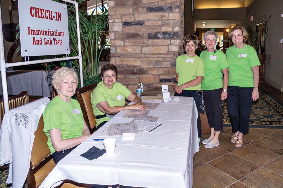 Volunteers at the Health Fair