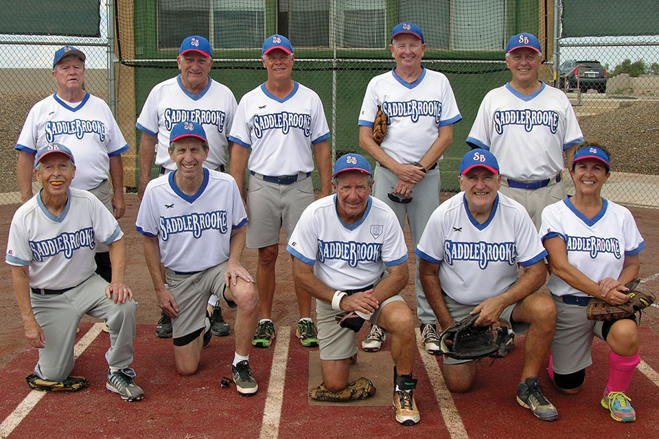 The Charles Company team, with manager Ron Quarantino, dominated Monday softball. Photo by Pat Tiefenbach