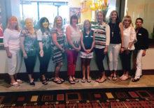May SBRWC new members, left to right: Sue Hanson, Linda Chonle, Madoka Knight, Gay Ohanian, Terri Stewart, Randy Brosnahan, Nancy Olsen, Debi Kerth, Jacque Bratz and Dana Spokane