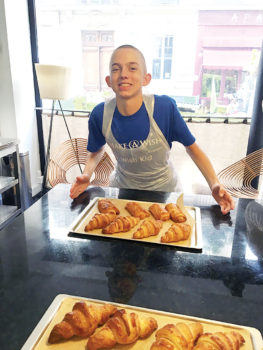 Part of this teenager's Wish included learning how they make croissants in Paris.