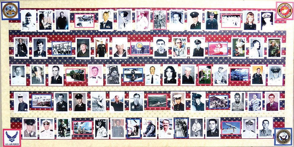 The Veterans Day display of our veterans
