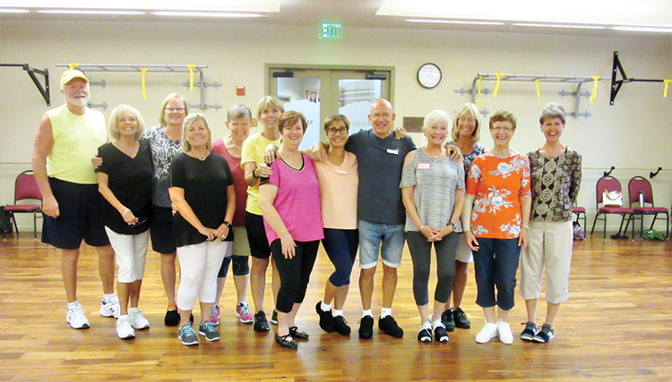 "Another great day of ""Happy Feet"" dancing in SaddleBrooke. These day six Ranch residents (Kay behind the camera) were able to enjoy 3,000 steps and watch the first rain drops of the monsoon."