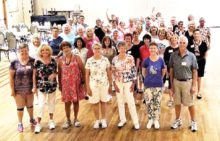 Where's Waldo? Have a look to see one or all of your 15-plus Ranch neighbors at the Summer Line Dance with Rebecca. Sorry, a few moved to the distant rear of the room. Shy?
