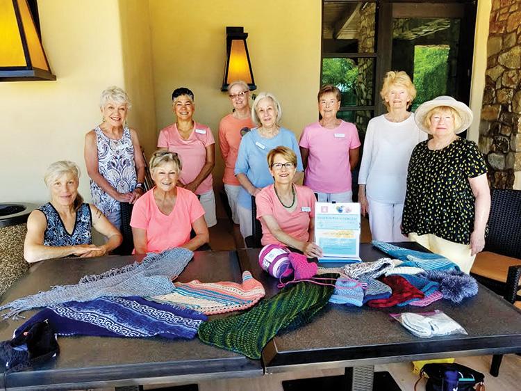 From left to right: Dianna DeCarr, Jan Knapp, Donna Scott, Carmen Allen, Debbie Cornett, Sharon Farber, Mary Tomacello, Marlene Jolly, Josephine Zora and Dianne Still