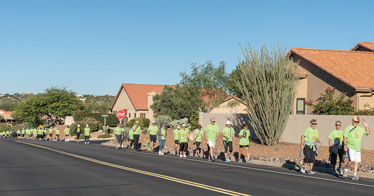 Last year's walkathon participants enjoyed perfect weather on their trip around the Ridgeview Blvd. loop.