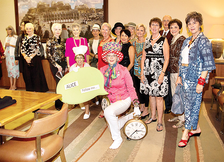Volunteers modeled clothing and accessories hand-picked from Golden Goose's inventory in last year's Alice in Wonderland-themed fashion show.
