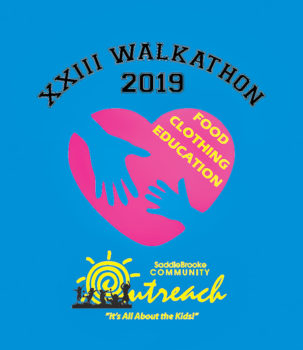 The 2019 Walkathon T-shirt design clearly conveys SBCO's commitment to the welfare of local children.
