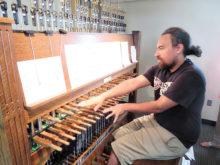 Joe Dias, Missouri State University carillonist, giving us a private concert.