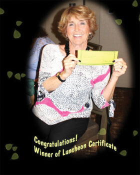 Winner is Sharon Groth. Photo by Florence Messer.
