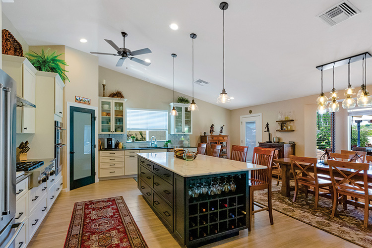 At the 2019 SBCO Home Tour, attendees saw the Gianotti home, which features a dramatic new kitchen with expansive island, pantry, and all new appliances.