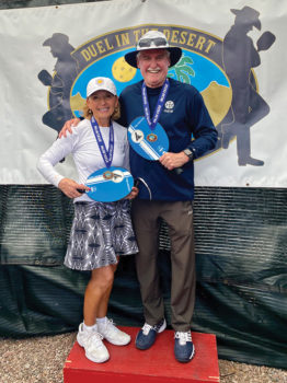 Angela and Rick with gold medals at Dual in the Desert.