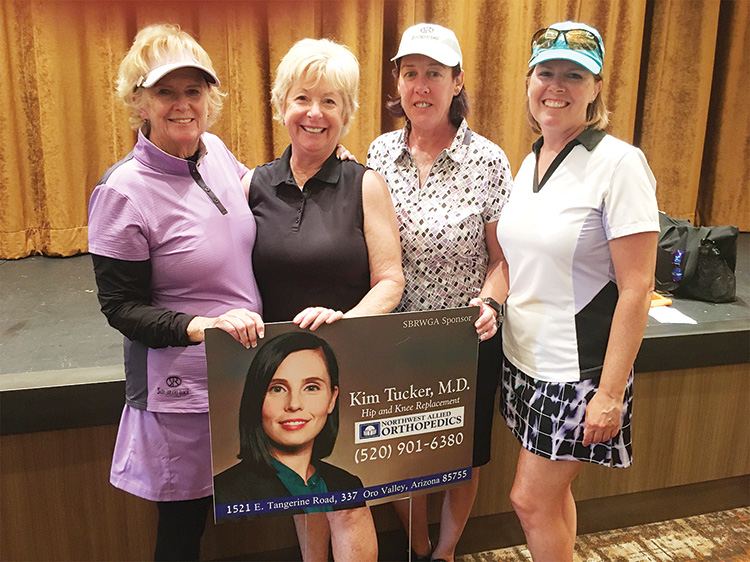 President's Cup Second Flight winners: Terri Movius, Colleen Carey, Debbie Shelton, and Sterlyn Robertson.