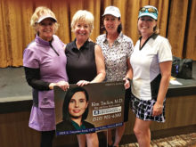 President's Cup 2nd Flight winners: Terri Movius, Colleen Carey, Debbie Shelton, and Sterlyn Robertson