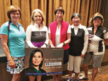 President's Cup 3rd Flight winners Jeanne Osterlund, Carole Erickson, Pilar Borm, Mary Fung, and Linda Sherfy