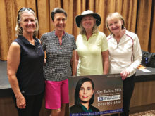 President's Cup 6th Flight winners Kay Johnson, Stephanie Gaskill, Mary Anderson, and CJ Kerley