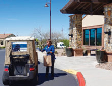 Curbside delivery of groceries at Ranch Grill
