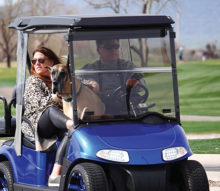The Dog Park is closed, so lots of golf cart rides.