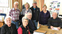 The SBCO Food Drive leadership team (left to right) Cynthia Chevalley, TCFB chairperson; Andrea Stephens and Dan Stephens, Food Drive co-chairs; Steve Groth, SBCO board president; back row: Ken Siarkiewicz; Lori Ward, Food Drive co-chair; and Bob Wample and Betty Ryan, SaddleBrooke Ranch Food Drive co-chairs