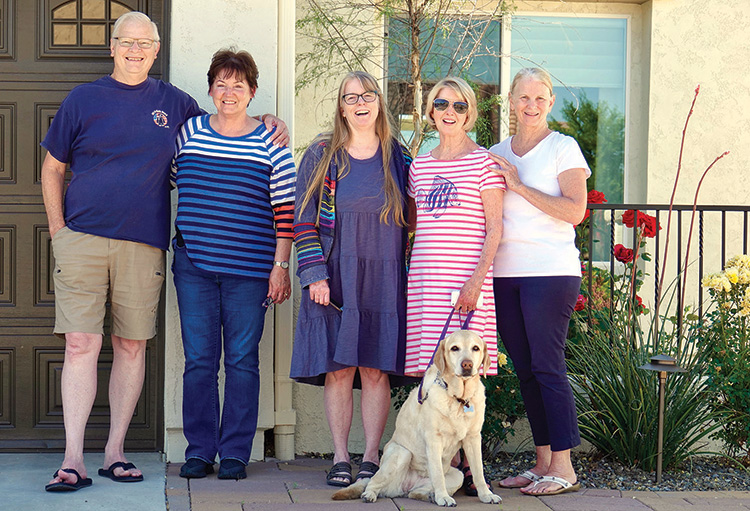 The Barringer family with Shasta, their beloved dog