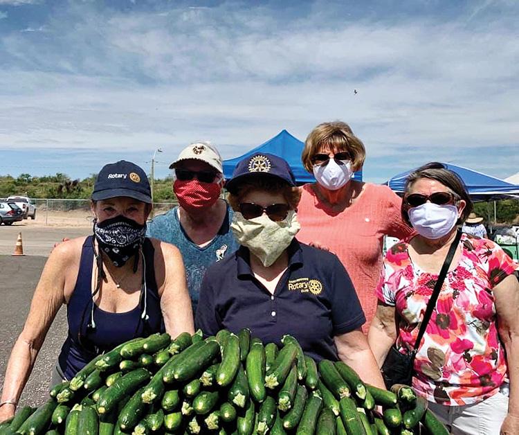 Liese Razzeto, Linda Racheal, Leslie Hawkins, Donna Birch, and Marie Speckhart (left to right)