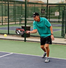 Mark Pohler, the Skills & Drills committee chairperson, keeps his eye on the ball at all times.