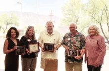 Left to right: Liese Razzeto, Barbara Barr, Paul Herr, Joe Guyton, and Wendy Guyton
