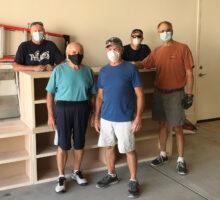 (Left to right) Ron Gustafson, Jeff Hansen, Barry Milner, Scott Saxson, and Dan Carter