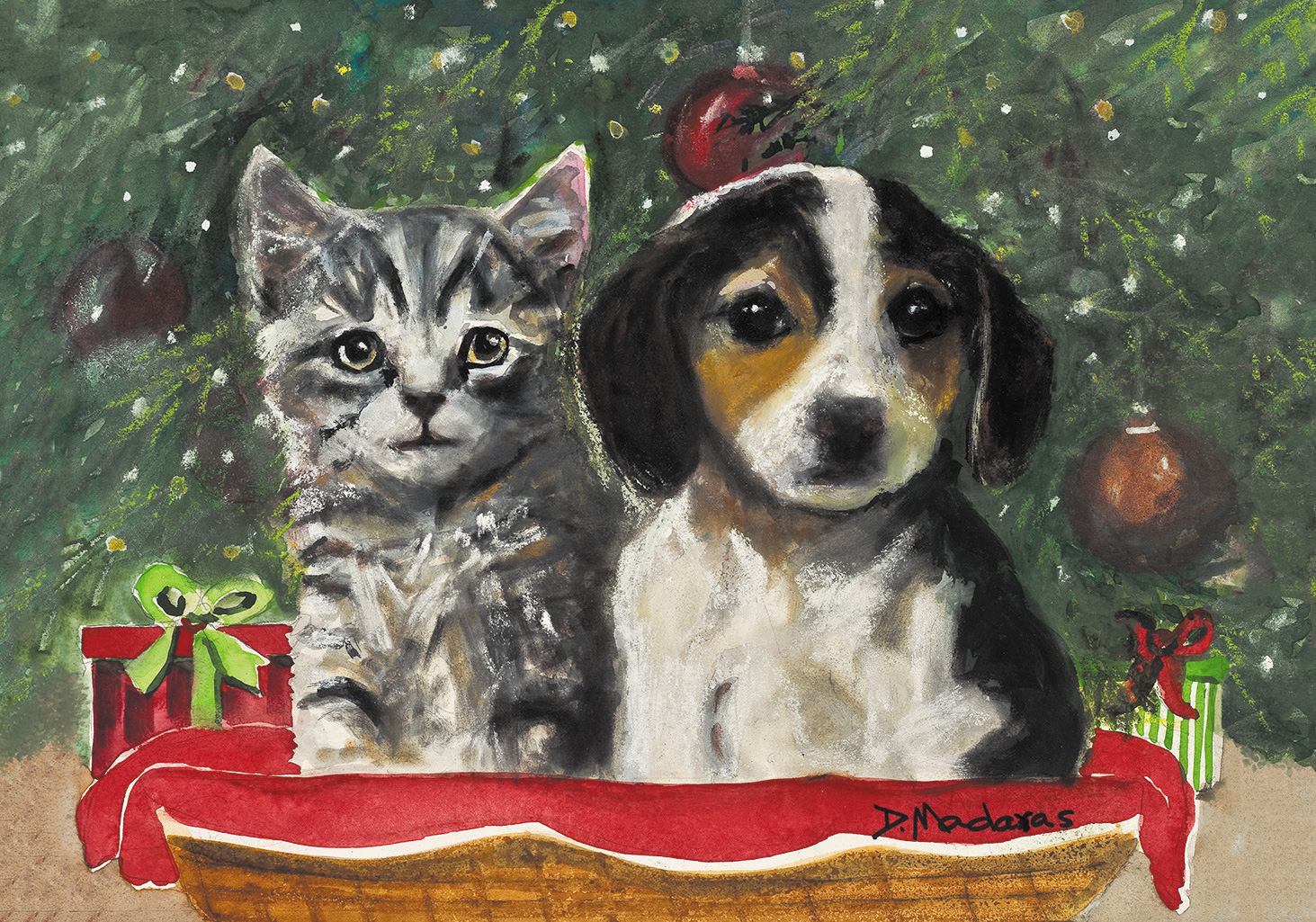 """""""My Forever Home"""" ornaments and holiday cards will benefit the Humane Society of Southern Arizona. Twenty-five southwest holiday cards are also available."""