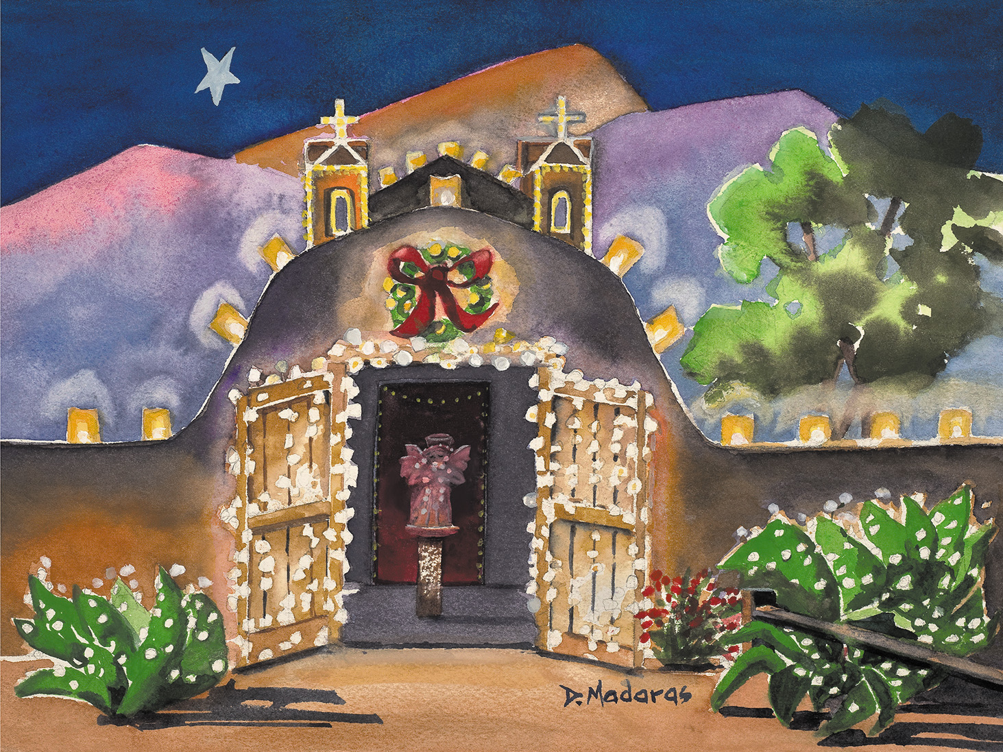 """""""Christmas Church"""" ornaments and holiday cards will also benefit the Humane Society of Southern Arizona."""