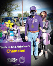 Ross and Florence Messer, organizers of the walk (Photo by Amanda Kaminski and Florence Messer)