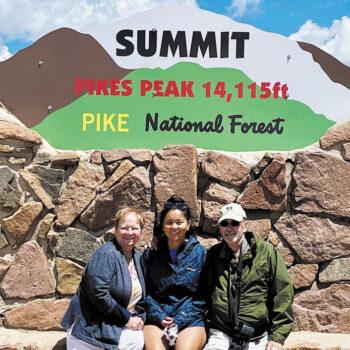Karen, Amanda, and Bud Nelson at Pike's Peak