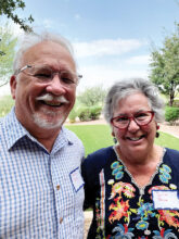 Julia and Mike Price moved into Unit 4A. They look forward to becoming involved with activities in SBR, including ceramics. Julia left some of her prized ceramics on display back in Colorado.