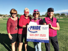 Solheim Cup Tournament co-captains (left to right): Judy Callahan, Susan Pharr, Marci Whitehead, and Sterlyn Robertson