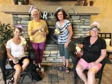 Left to right: Paula Cartwright, Linda Keller, Mary Fernandes, and Char Eckmeyer