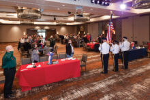 Color Guard from American Legion Post 132, Oro Valley presenting the flag.