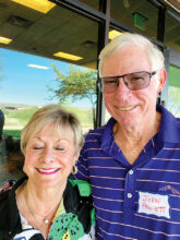 Wendy and John Pruiett have settled in Unit 9 and are from Portland, Ore. When not golfing or reading, they will be looking for fellow bridge players.